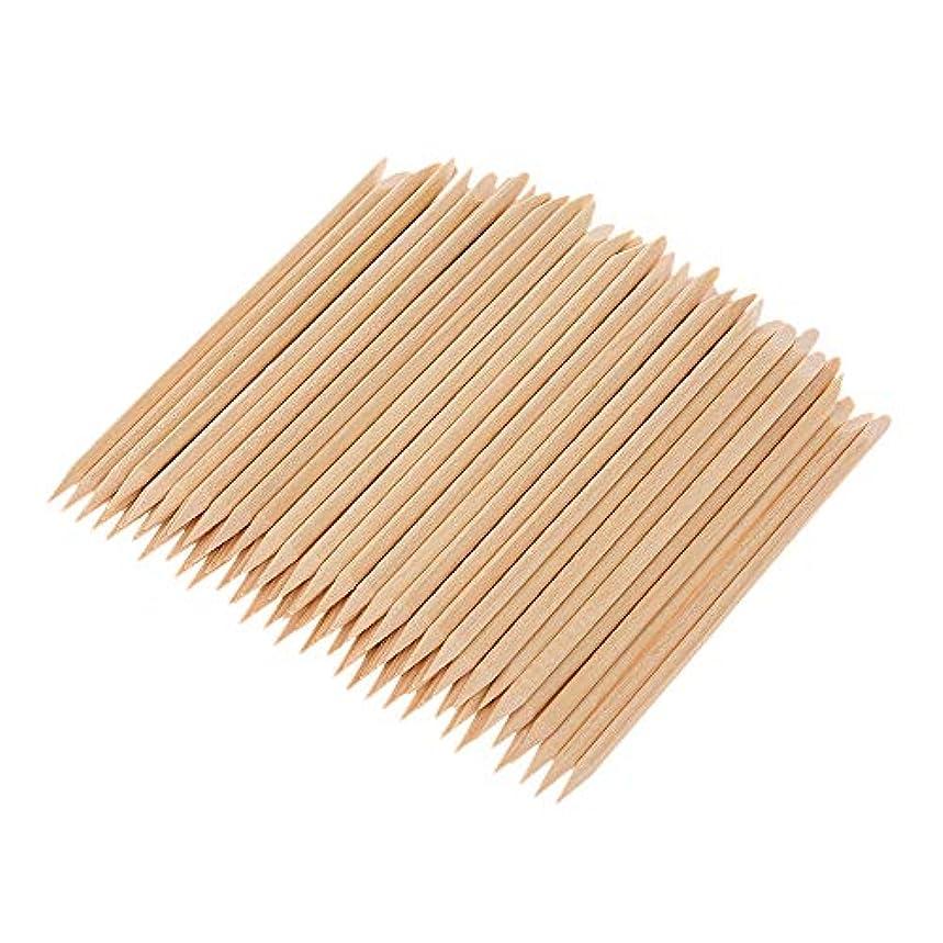 意義対話放射能Decdeal マニキュアペディキュアツール 100ピース ネイルアート 木材 スティック 木製 使い捨て