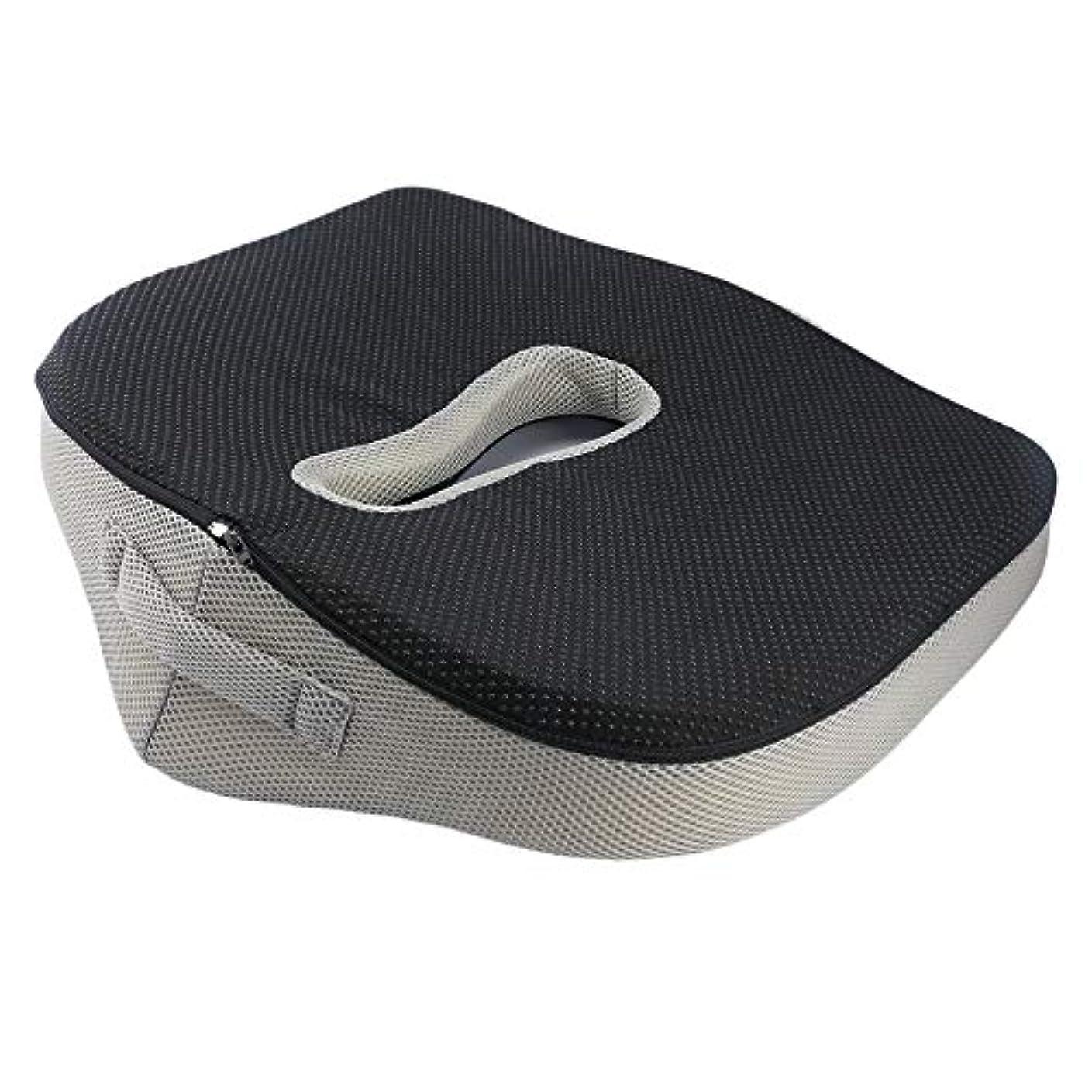 背中の痛みの救済オフィスチェアの車のためのスローリバウンド尻のシートクッション