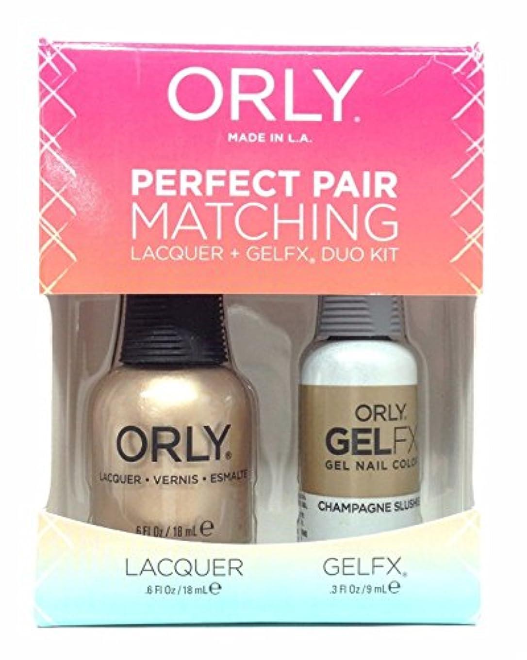 階下スマッシュ悲しいOrly Lacquer + Gel FX - Perfect Pair Matching DUO Kit - Champagne Slushie