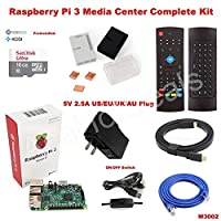 FidgetGear Raspberry Pi 3 Model B wifi OSMC Media Center Complete Kit M3002 Black US