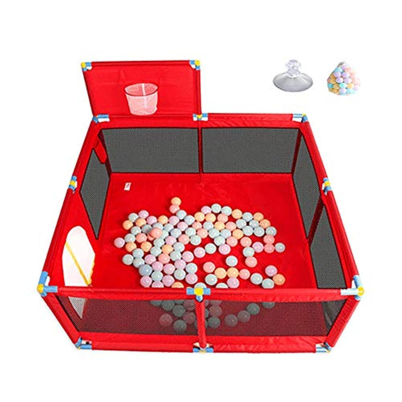 折り畳み可能な赤ちゃんのPlaypenポータブルPlayard屋外の幼児は、バスケットシューティングボックスとウォーターバッグで遊び庭で遊ぶ (サイズ さいず : With basket box)
