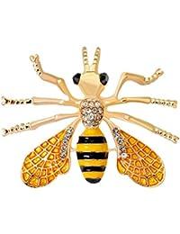 GuDeKe イェローゴールド ミツバチ ビー 蜂 ブローチ ラペルピン ジュエリー アクセサリー