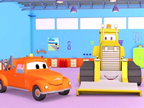 ショベルの故障 & ゴールキーパーのベビーキャリーそして, レッカー車のトム, (子供向け)車&トラックの 建設アニメ