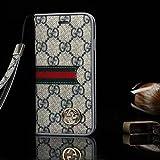 GUCCI iPhone7 ケース スマホケース・ 手帳型 携帯カバー脱着簡単 保護カバー [並行輸入品] (WHITE)