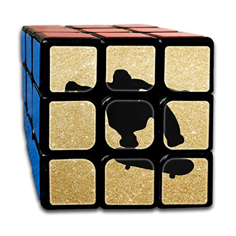 Rubiks キューブ スケートボード スケーター スピードキューブ 3x3x3 3x3 マジックキューブパズル おもちゃ One Size ブラック cwb009_28731716