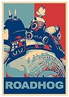 """ポスターOverwatch """" Propaganda """" Roadhog–a3( 42x 30cm )"""