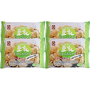 高章食品 豆乳白玉こんにゃく (黒糖蜜・きな粉付) 120g×4個