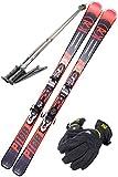 ROSSIGNOL (ロシニョール) スキー4点セット 17-18 PURSUIT 100 レッド 170cm XPRESS ビンディング/ストック120cm/メンズグローブ付き