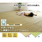洗えるPPカーペット 『バルカン』 ベージュ 江戸間3畳(174×261cm)