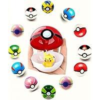 12 pcsスマートポケモンPokeball For Kids Fun and Play withプラスチックFiguresスーパーAnimes