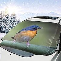 フロントカバー 車 サンシェード 防水 美しい鳥 車用 サンシェード 遮光 フロントシェード カーサンシェード 吸盤取付 汎用 SUV車/車種汎用 フロント保護カバー 遮光 遮熱 保護する車用
