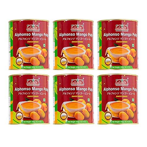 神戸アールティー Aarti アルフォンソ マンゴーピューレ 850g × 6缶 Mango Pure