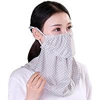 フェイスマスク uvカット 紫外線対策 日焼け防止 UVカット 大判フェイスマスク UVガード やわらかフェイスマスク ベージュ アイデア 便利