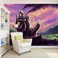 Mbwlkj 写真壁紙カスタムレストラン壁画Hd手描きのカタツムリ家壁画リビングルームテレビの背景壁紙-200cmx140cm