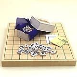 将棋セット ヒバ1寸卓上接合将棋盤竹と白椿上彫将棋駒