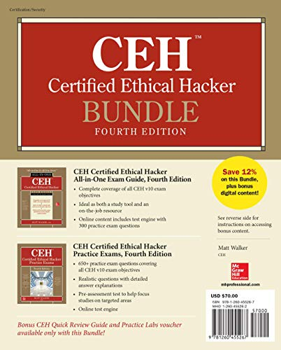 Download CEH Certified Ethical Hacker Bundle, Fourth Edition 1260455262