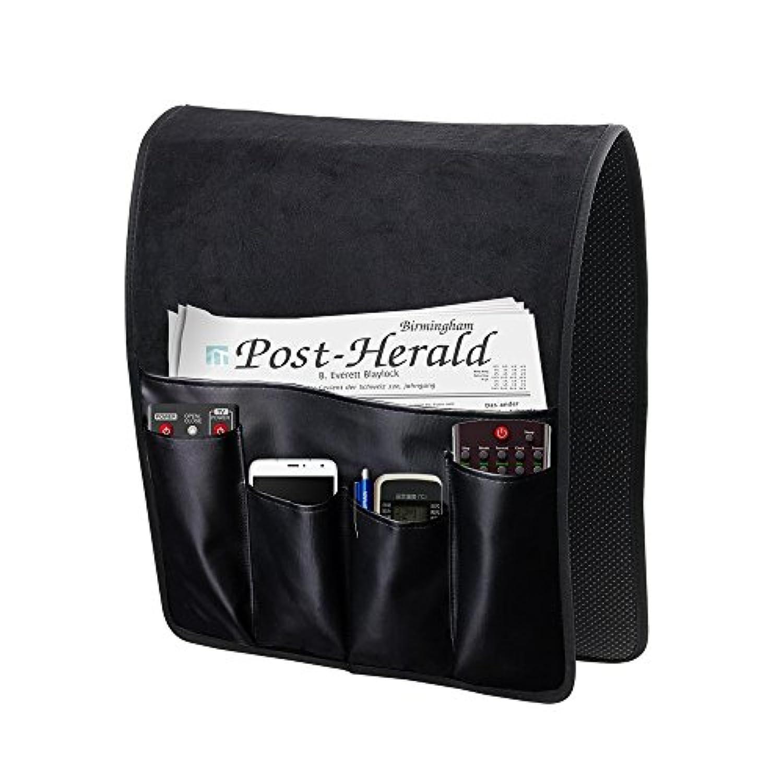 防滑 ソファー掛け袋 ソファー/チェア アームレスト収納 90X34cm 新品 (黒)