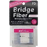 FD ブリッジソフトファイバー 眼瞼下垂防止テープ ソフトタイプ 透明1.4mm幅 120本入り