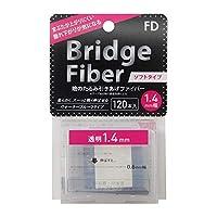 FD ブリッジソフトファイバー 眼瞼下垂防止テープ ソフトタイプ 透明1.4mm幅 120本入り 10個セット