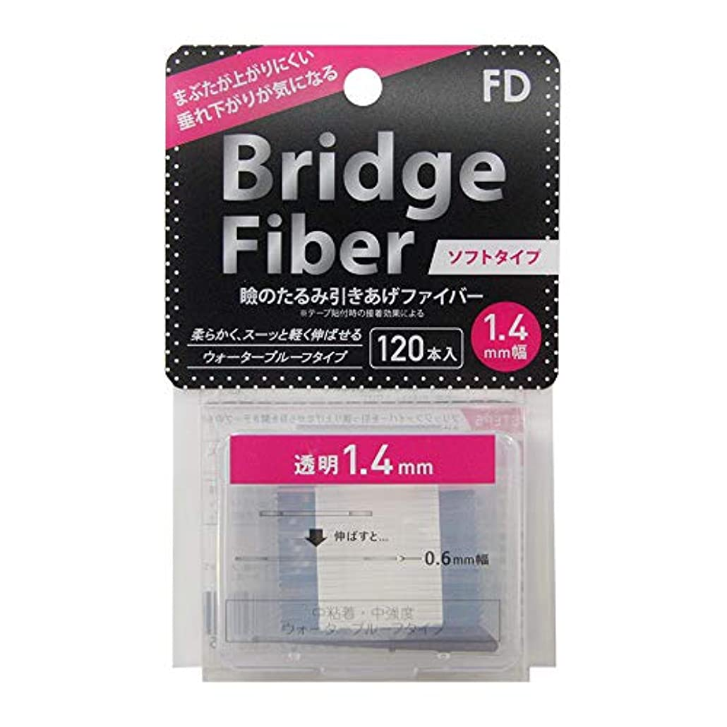イースター憧れ勃起FD ブリッジソフトファイバー 眼瞼下垂防止テープ ソフトタイプ 透明1.4mm幅 120本入り