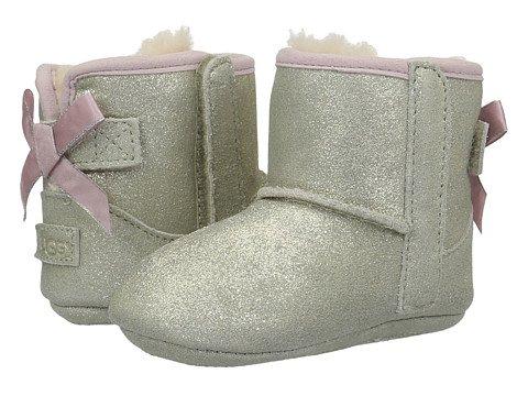 (アグ)UGG ベビーシューズ・スリップオン・クリブシューズ・靴 Jesse Bow II Metallic (Infant/Toddler) Gold US 4-5 Toddler n/a M [並行輸入品]
