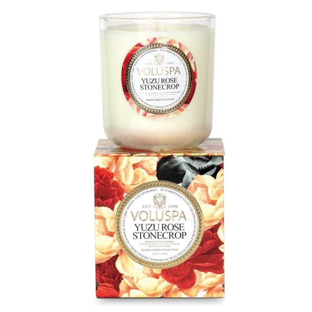 ラフ睡眠小麦描くVoluspa ボルスパ メゾンジャルダン ボックス入りグラスキャンドル ユズ ローズ ストーン クロップ MAISON JARDIN Box Glass Candle YUZU ROSE STONECROP