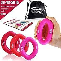 手Strengthenerグリップリング10–100lb–複数の抵抗レベル–前腕強度グリップ–すばやくincrease your hand強度–Finger Exerciser–Best Hand ExerciserグリップStrengthener