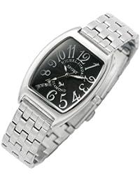 [ミッシェルジョルダン]michel Jurdain 腕時計 ダイヤモンド 5P 入り トノー型  メタル ベルト レディース ウォッチ ブラックxホワイト SL-1000A-1B レディース