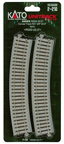 HOユニトラック線路 曲線線路 R550-22.5° (4本入) #2-210