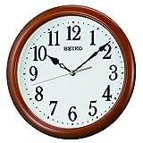 SEIKO CLOCK (セイコークロック) 掛け時計 アナログ 木枠 茶木地 KX620B
