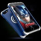 バットマン、キャプテン・アメリカ数量限定iphone7 iphone7plus 合金ケース アルミ金属 PC耐衝撃 超人気iphoneネジ止め薄型組み立てアイフォンカバー (iphone7, キャプテン・アメリカ(ブルー+シルバー)) [並行輸入品]