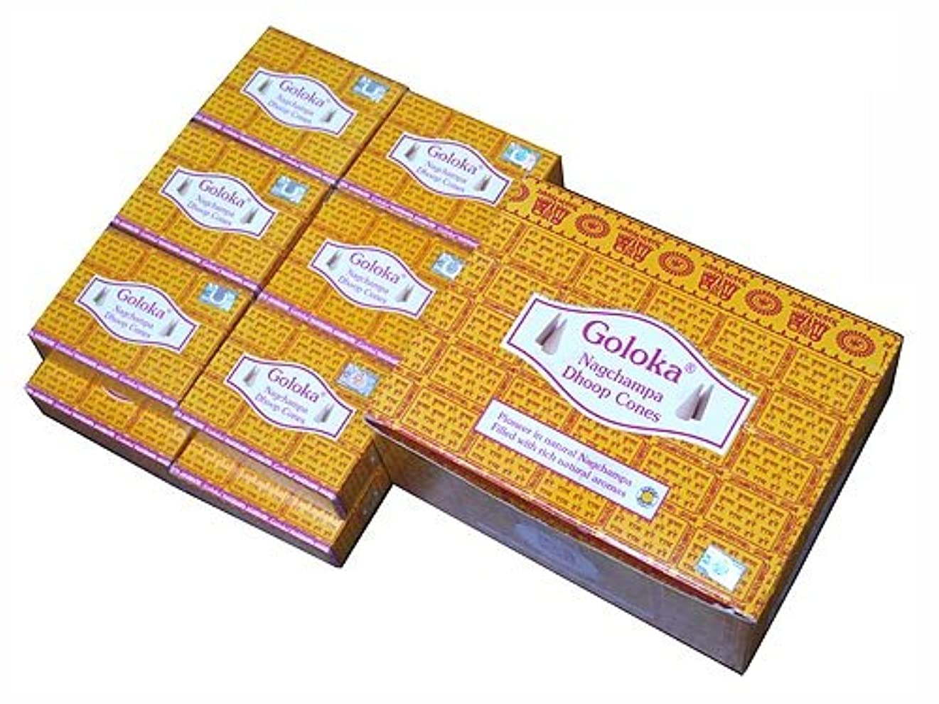 咽頭タイル制限されたGOLOKA(ゴロカ) ゴロカ ナグチャンパ香 コーンタイプ NAG CHAMPA CORN 12箱セット