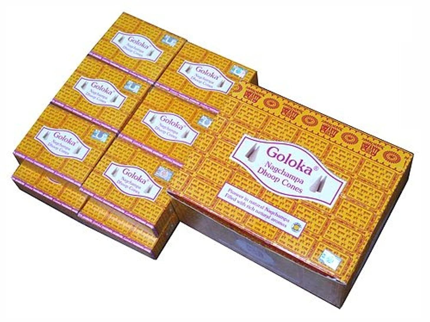 パーク処方する排気GOLOKA(ゴロカ) ゴロカ ナグチャンパ香 コーンタイプ NAG CHAMPA CORN 12箱セット