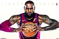 Trends International Cleveland Cavaliers-Lebron James Wall Poster 22.375 x 34 【Creative Arts】 [並行輸入品]