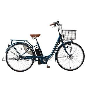 SUISUI(スイスイ) 軽快車電動アシスト自転車 BM-P10 ネイビー 3灯LEDライト付 5.8Ahリチウムイオンバッテリー搭載 26インチ 内装三段変速ギア 28472-0323