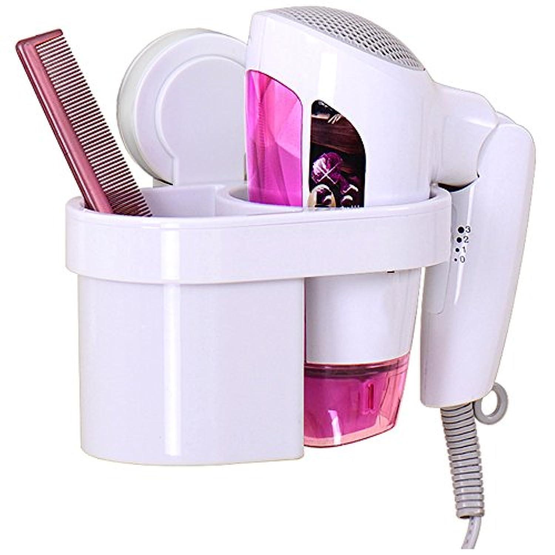 HAIZHEN 浴室用ラック ヘアドライヤーラックウォールマウントプラスチック素材多機能のスペースを節約便利で実用的 インストールが簡単