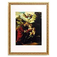 Mazzolino, Ludovico,um1480-1530 「The Holy Family.」 額装アート作品