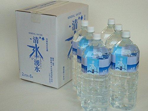 JAにじ 日本名水百選「清水湧水」2L6本セット