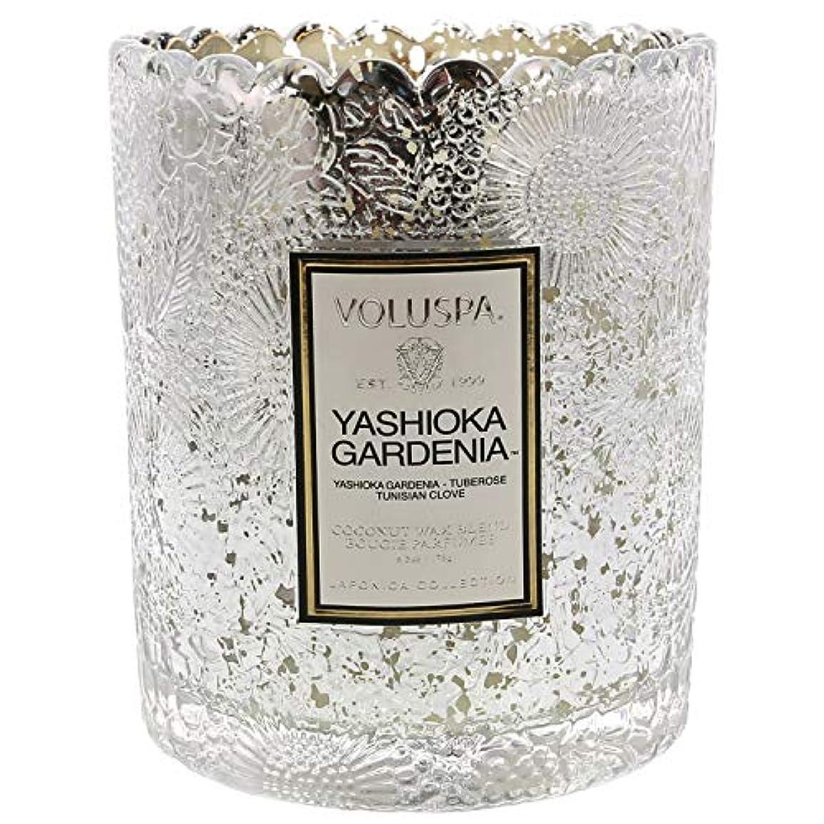 器用マチュピチュ不完全なVoluspa ボルスパ ジャポニカ リミテッド スカラップグラスキャンドル  ヤシオカガーデニア YASHIOKA GARDENIA JAPONICA Limited SCALLOPED EDGE Glass Candle