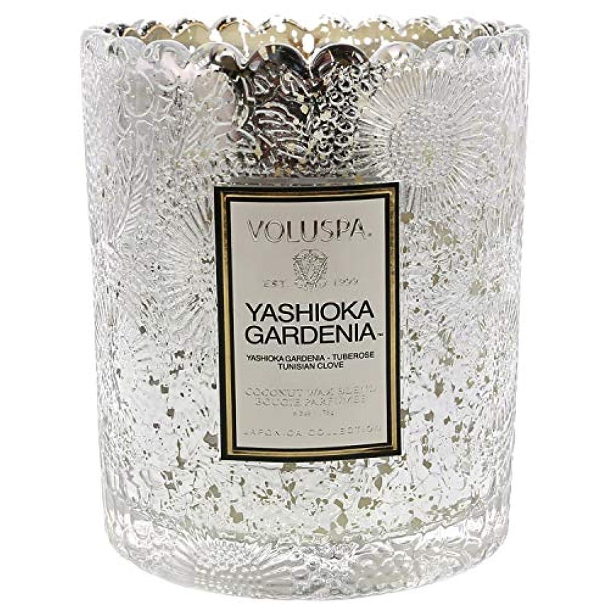ビデオ廃止寺院Voluspa ボルスパ ジャポニカ リミテッド スカラップグラスキャンドル  ヤシオカガーデニア YASHIOKA GARDENIA JAPONICA Limited SCALLOPED EDGE Glass Candle