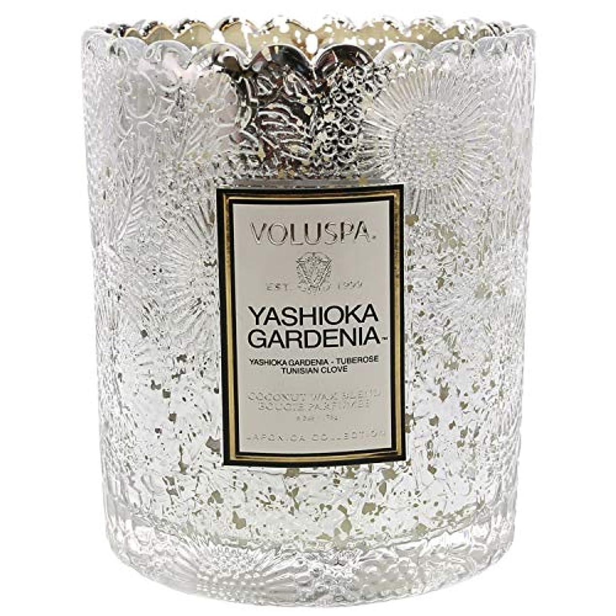 状陸軍抗議Voluspa ボルスパ ジャポニカ リミテッド スカラップグラスキャンドル  ヤシオカガーデニア YASHIOKA GARDENIA JAPONICA Limited SCALLOPED EDGE Glass Candle
