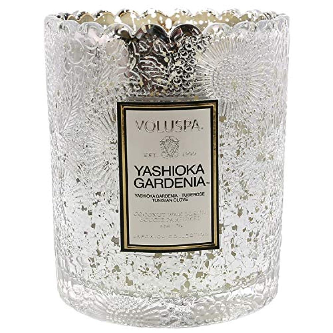 敏感なマイル発明Voluspa ボルスパ ジャポニカ リミテッド スカラップグラスキャンドル  ヤシオカガーデニア YASHIOKA GARDENIA JAPONICA Limited SCALLOPED EDGE Glass Candle
