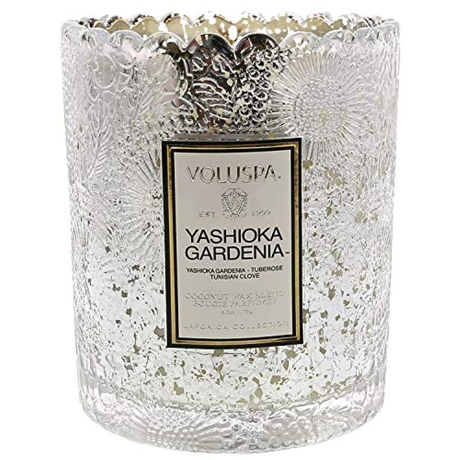 ヘビー識字マインドVoluspa ボルスパ ジャポニカ リミテッド スカラップグラスキャンドル  ヤシオカガーデニア YASHIOKA GARDENIA JAPONICA Limited SCALLOPED EDGE Glass Candle