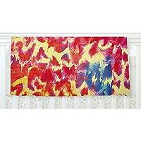 KESS InHouse Ebi Emporium Wild at Heart - Revisited Pink Orange Fleece Baby Blanket 40 x 30 [並行輸入品]