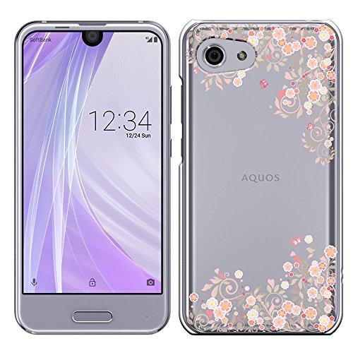 d5d2d717dc ... ポリカーボネイト [透明-Pink]アクオス アール コンパクト AQUOS R compact SHV41/SH-M06 AQUOS R  compact ケース カバー 液晶保護フィルム付 全機種対応 [SHV41]