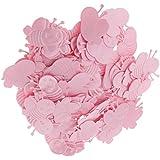 Perfeclan 約100個 ミニ ビー アップリケ ナイロン製 ベビーシャワー ガールシャワー デコレーション 4色選べる - ピンク