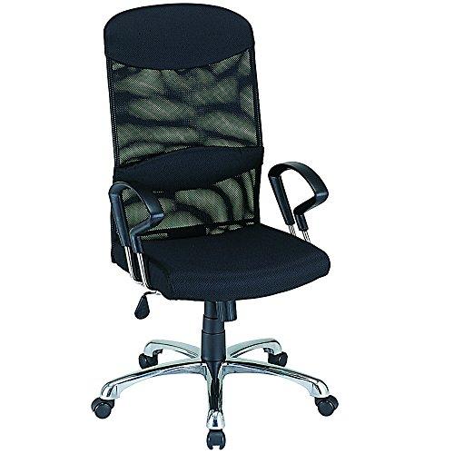 ナカバヤシ ネットチェア ハイバック オフィスチェア 椅子 ブラック RZS-102BK...