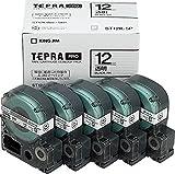 キングジム テープカートリッジ テプラPRO 12mm 5個 ST12K-5P 透明