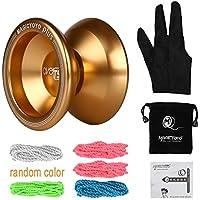 〔共同開発〕Magic YoYoXLeaningTech T5 Plus アルミ マジック ヨーヨー (ゴールド) 5本ストリングス+グローブ+アルミ製ヨーヨー +袋セット