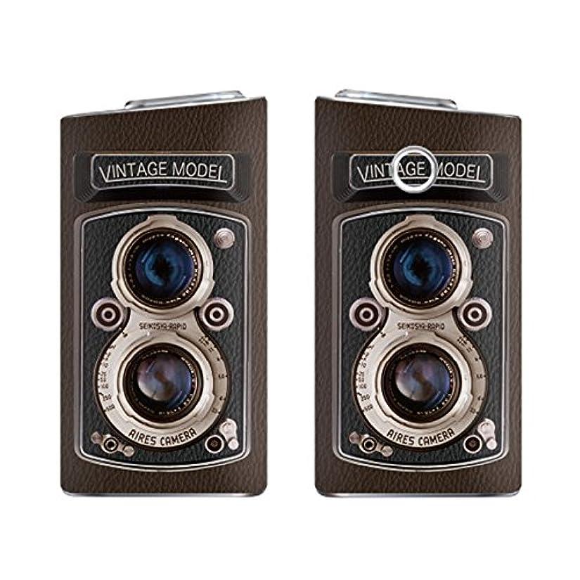 マグ嵐滝ガールズネオ glo mini グローミニ シリーズ2 series2 スキンシール ラミネート加工有 全面セット (Vintage Camera/ブラウン) glomini-YSZ-0313